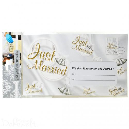 Riesen Umschlag JUST MARRIED Geldgeschenk