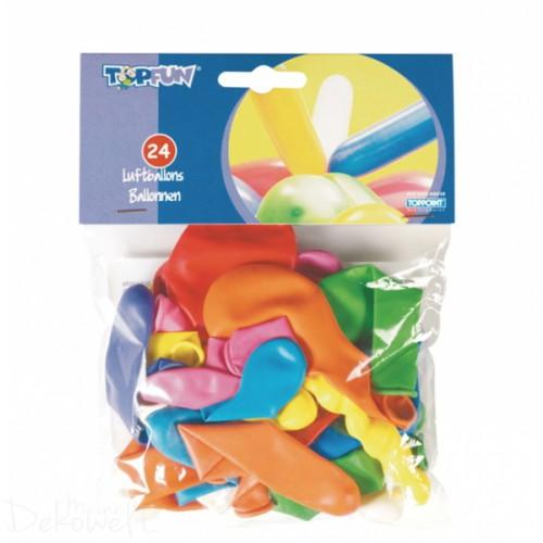 24 farbige Luftballons verschiedene Modelle