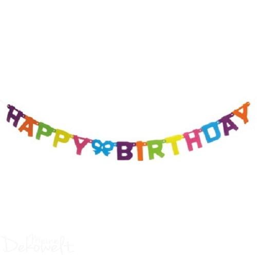 Buchstaben Girlande Happy Birthday 1,50m verschieden farbig