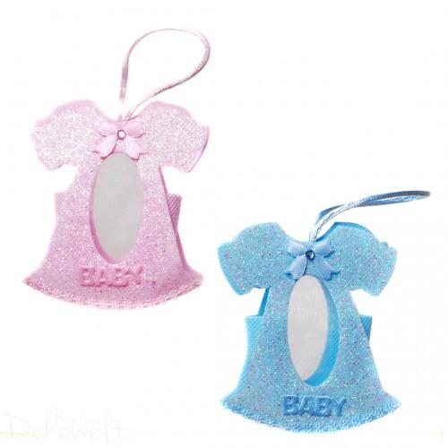 Geldgeschenk Baby-Kleidchen Blau/Rosa Geburt Junge/Mädchen