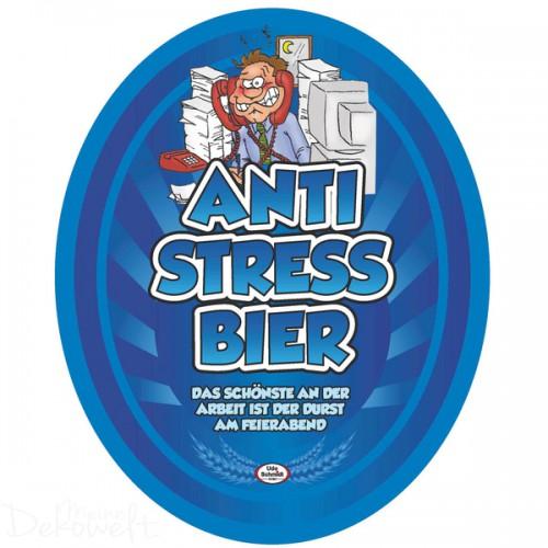 """Bierflaschen-Etikett """"Anti Stress Bier"""""""