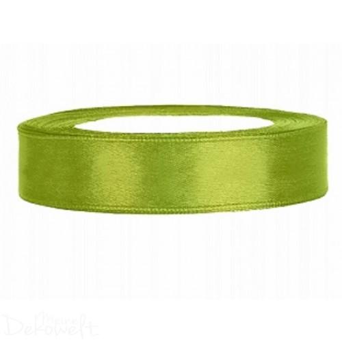 25m x 12mm Satinband Apfelgrün