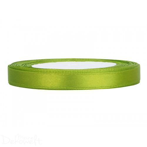 25m x 6mm Satinband Apfelgrün