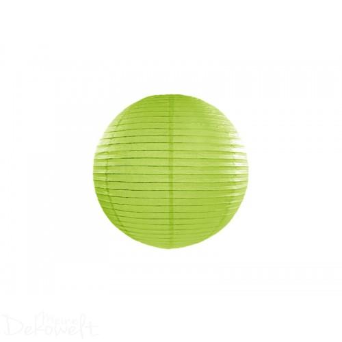 Papierlaterne Apfelgrün 20cm Lampion Reispapier