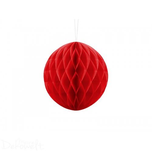 5 Wabenbälle Rot Honeycomb Ball 20cm