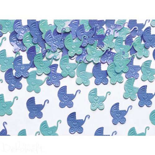 Tischstreu Kinderwagen Blau/Grün 15g
