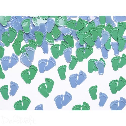 Tischstreu Babyfüße Grün/Blau 15g