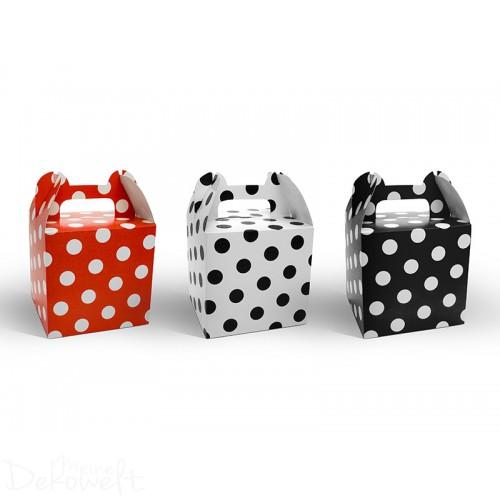 6x Geschenkbox Taschenform 8,7cm x 8,7cm x 12,5cm