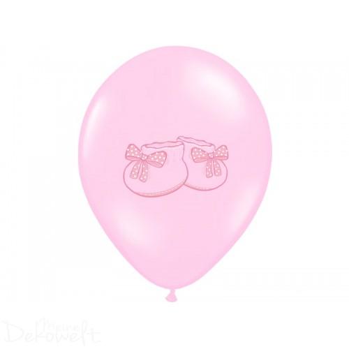 "10 rosa Luftballons ""Babyschuh"" Ø 30cm"