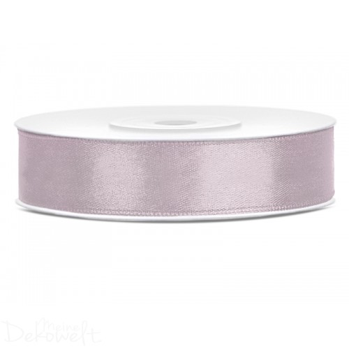 25m x 12mm Satinband Puderrosa