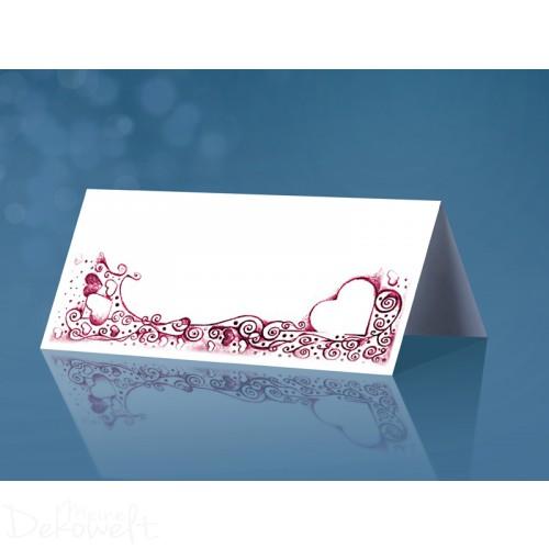 25 Tischkarten Hochzeit 10cm x 4cm