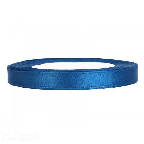 25m x 6mm Satinband Blau