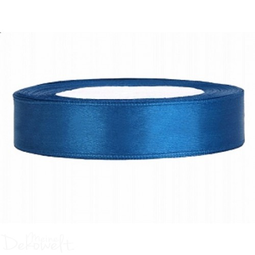 25M X 12MM SATINBAND BLAU