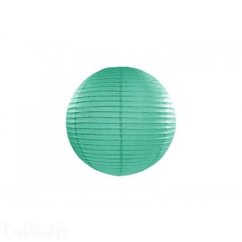 Papierlaterne Blaugrün 20cm Lampion Reispapier