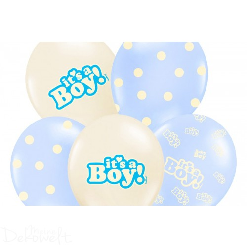 "10 Luftballons ""It´s a Boy"" 3 Designs Ø 30cm"