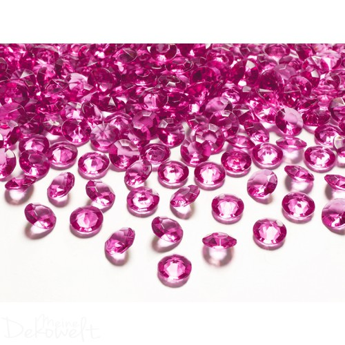 1100 ACRYL DEKODIAMANTEN DUNKELPINK 12MM