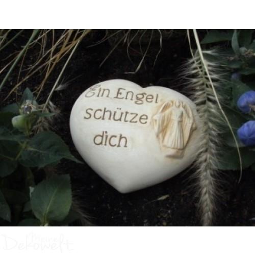 """Grabschmuck Stein """"Ein Engel schütze dich"""" 18cm x 14cm x 6cm Keramik 3D Motiv"""