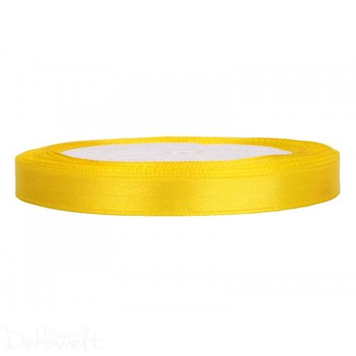 25m x 6mm Satinband Zitronengelb