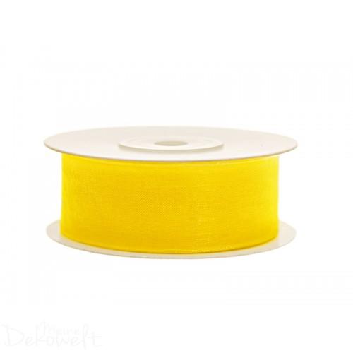 25m x 25mm Chiffonband Gelb