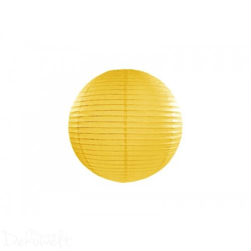Papierlaterne Gelb 20cm Lampion Reispapier