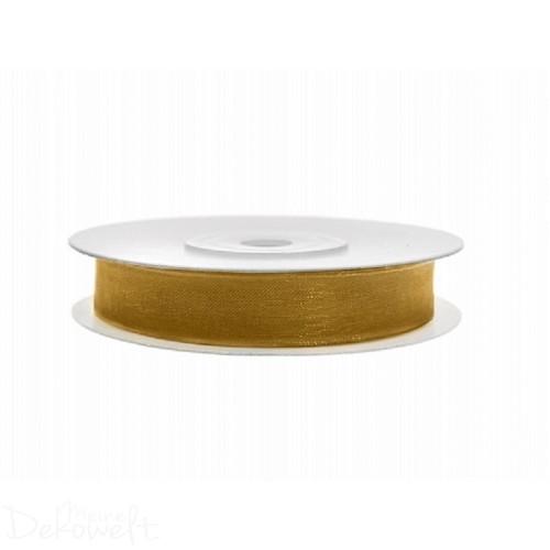 25m x 6mm Chiffonband Gold