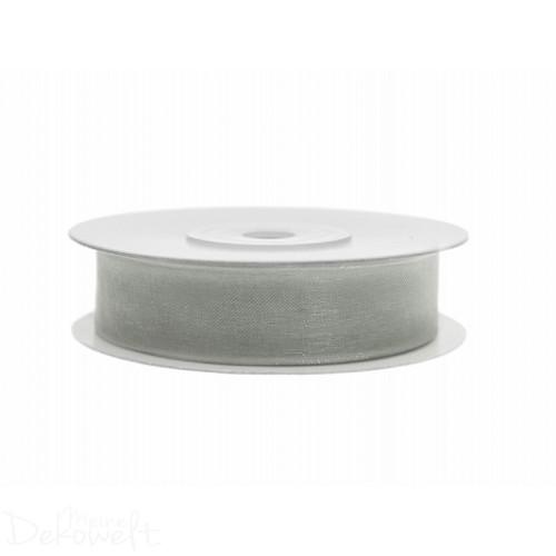 25m x 12mm Chiffonband Grau
