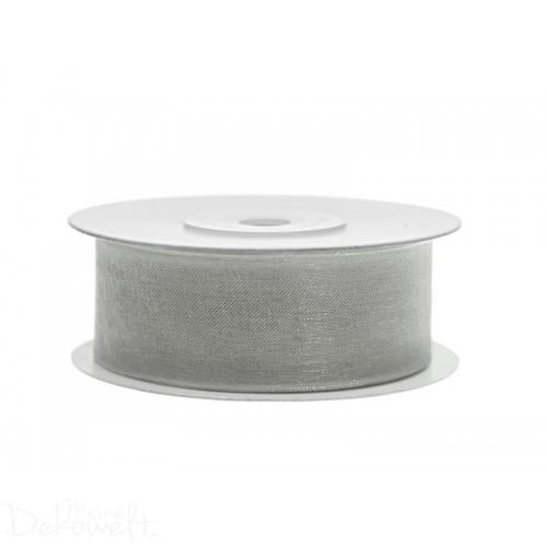 25m x 25mm Chiffonband Grau