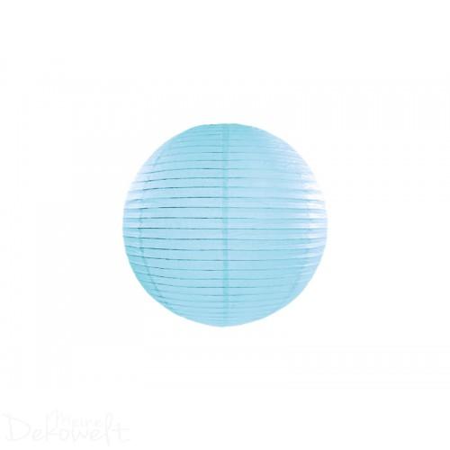 Papierlaterne Hellblau 20cm Lampion Reispapier