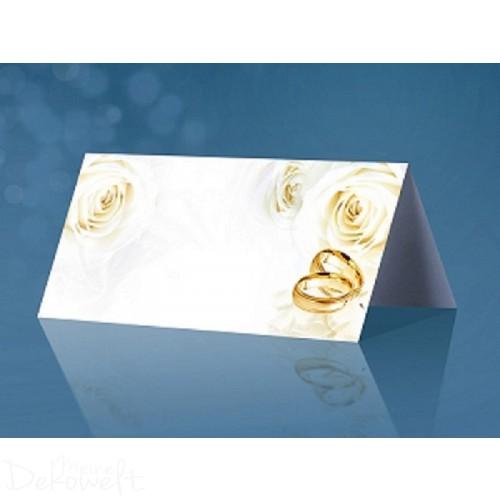 25 Tischkarten Hochzeit 10cm x 4,5cm