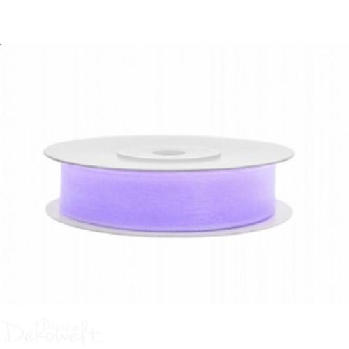 25m x 12mm Chiffonband Lavendel