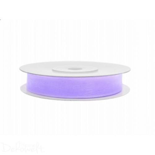 25m x 6mm Chiffonband Lavendel