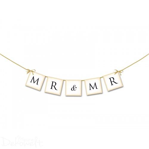 Hochzeits-Banner MR & MR 64cm