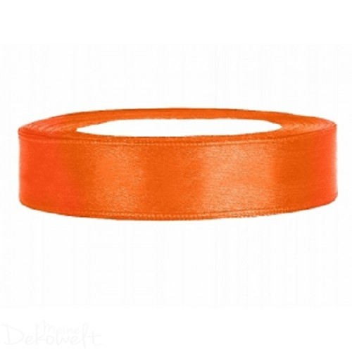 25m x 12mm Satinband Orange