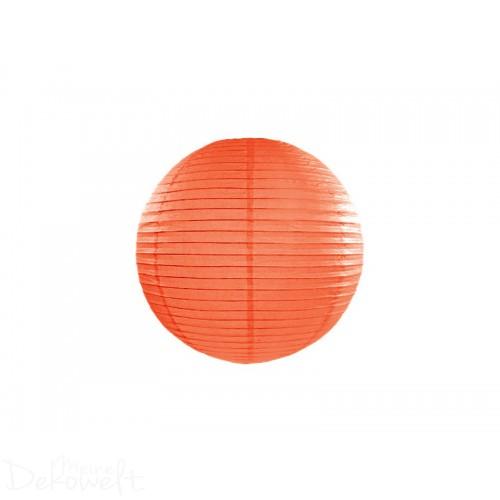Papierlaterne Orange 20cm Lampion Reispapier
