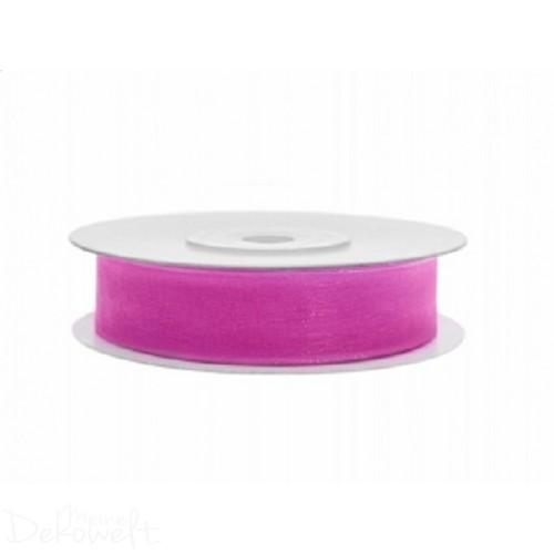 25m x 12mm Chiffonband Pink