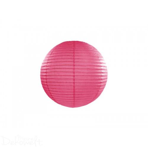 Papierlaterne Pink 20cm Lampion Reispapier