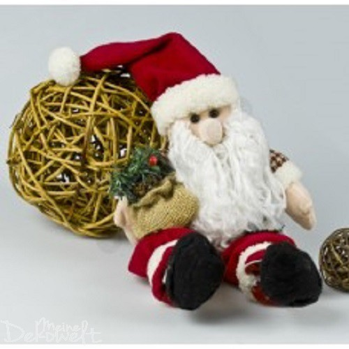 Niedlicher Textil Weihnachtsmann ca. 45cm x 30cm