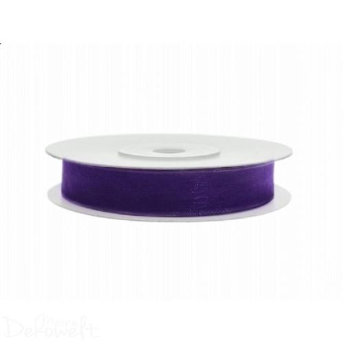 25m x 6mm Chiffonband Violett