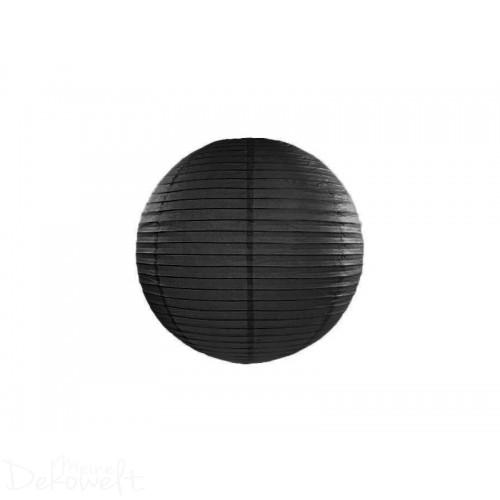 Papierlaterne Schwarz 20cm Lampion Reispapier