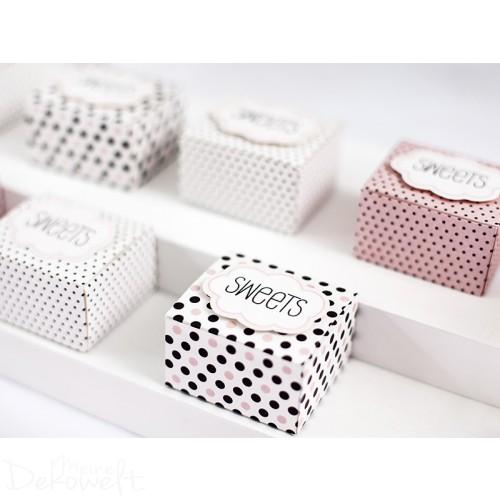 6x Geschenkbox SWEETS für Süßigkeiten
