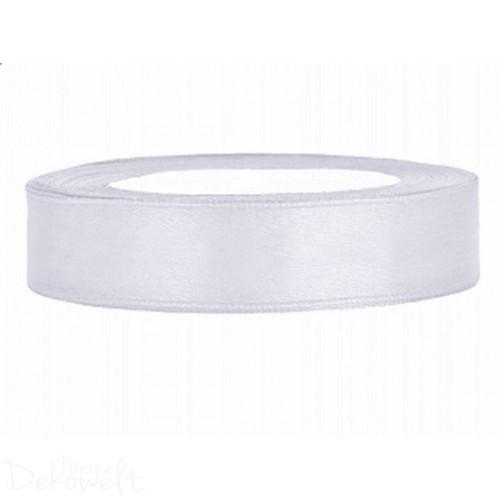 25m x 12mm Satinband Weiß
