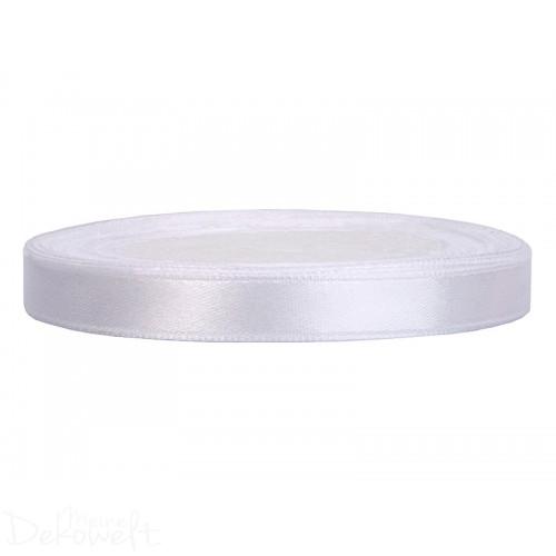 25m x 6mm Satinband Weiß