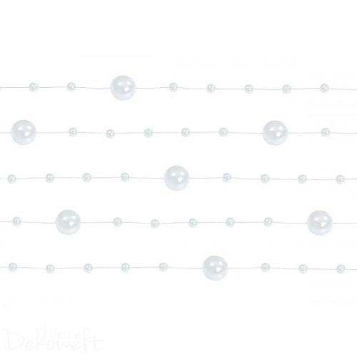 Perlengirlande 5 Stück á 1,30m weiß